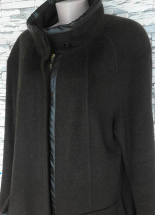 Пальто великого розміру шоколадного кольору