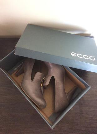 Ботинки (туфли) ecco / 36 размер /натуральная кожа