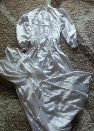 Атласний халат з ночнушкою