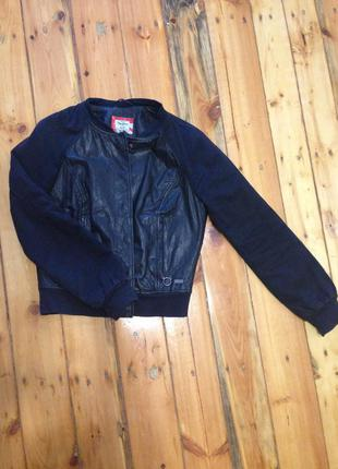 Кожаная куртка pepe jeans