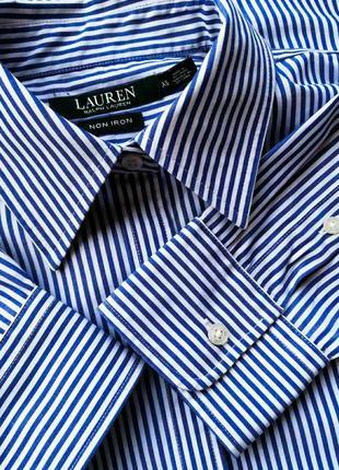 Качественная и удобная хлопковая рубашка люксового американского бренда ralph lauren.