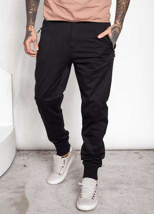Чорні штани джогери