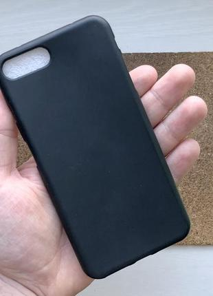 Чехол черный на для айфон iphone 8 + плюс plus силиконовый