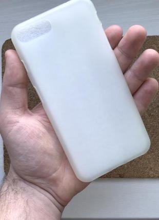Чехол белый на для айфон iphone 8 + плюс plus силиконовый