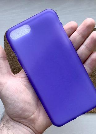 Чехол фиолетовый на для айфон iphone 8 + плюс plus силиконовый