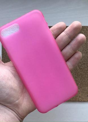 Чехол розовый на для айфон iphone 8 + плюс plus силиконовый