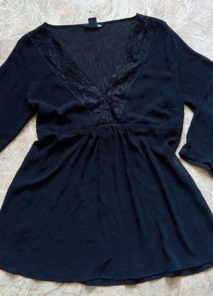 Шикарная черная блузка h&m акция! 1+1=3