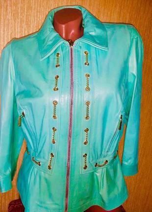 Roberta biagi новая кожаная куртка италия шикарная кожаная куртка с баской