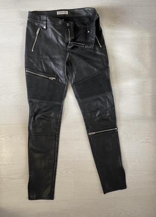 Кожаные брюки зара