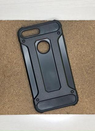 Чехол противоударный черный на для айфон iphone 8 + плюс plus силиконовый