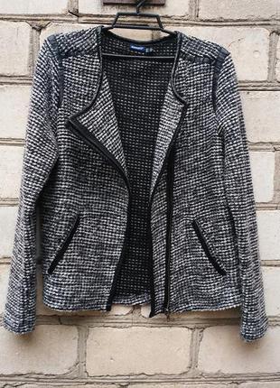 Пиджак косуха с кожаными вставками