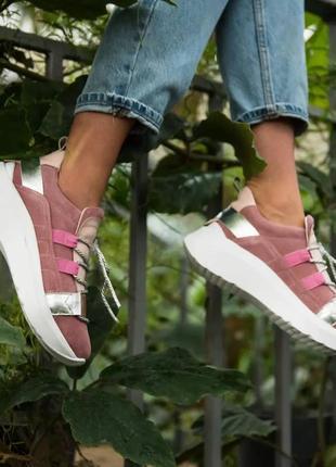 Жіночі замшеві кросівки