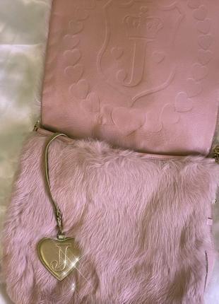 Пушистая сумка juicy couture