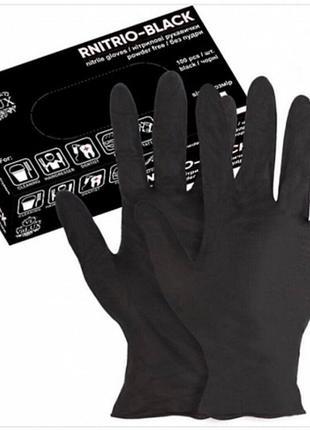 Перчатки черные нитриловые размер s, м, xl