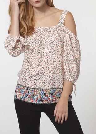 Актуальная блуза с открытыми плечами dorothy perkins
