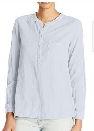 Рубашка сорочка levis нежно голубого цвета оригинал s m