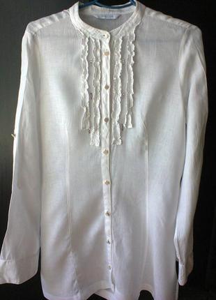 Блузка-рубашка  из  льна  от  итальянского  бренда marella  sport.