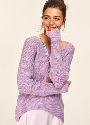Сиреневый женский свитер milla размер s/l, фирменная турция