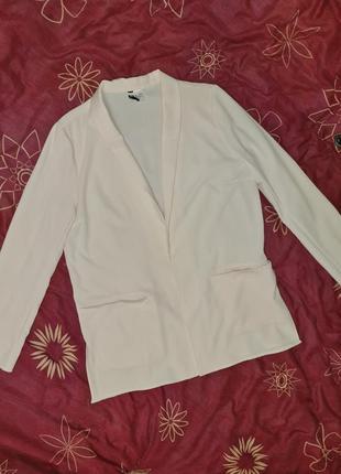 Пиджак блейзер бледно-розовый l