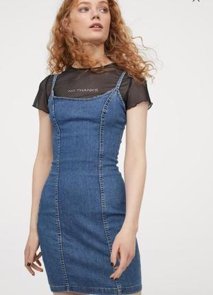 Джинсовое платье h&m