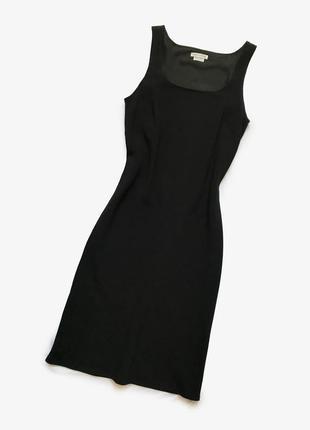 Caractere итальянское люкс платье классическое чёрное без рукавов