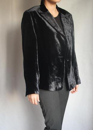 Бархатный пиджак linea, 100% натуральный шёлк, размер л-хл