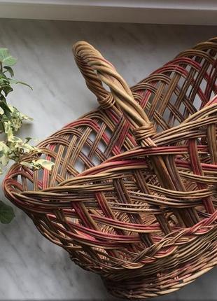Корзина плетеная на пасху