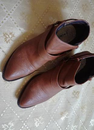 Крутые ботинки полусапожки ковбойский стиль с вышивкой