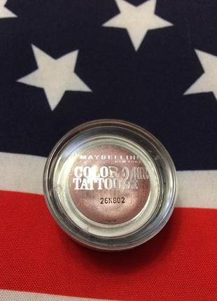 "Кремовые тени maybelline color tattoo 24hr,тени-хайлайтер ""розовое золото"""