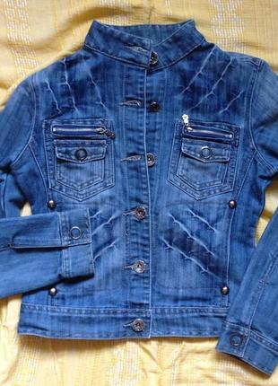 Курточка джинсовая женская короткая, р.s