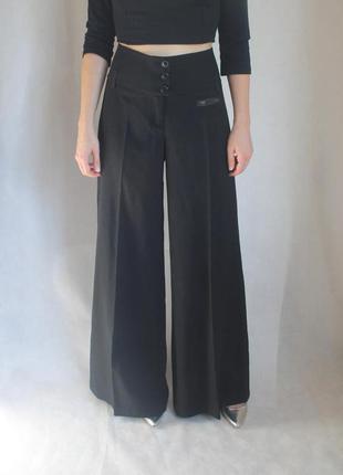 Широкие брюки палаццо cop/copine, высокая талия, размер м-л