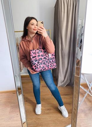 Сумка розовая сумочка леопард шоппер италия carpisa