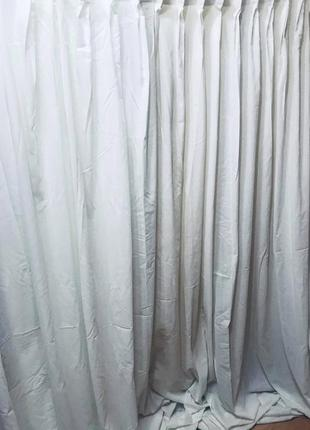 Штора тюль готовая белая плотная 2шт - 3,60м х 2,65м котон
