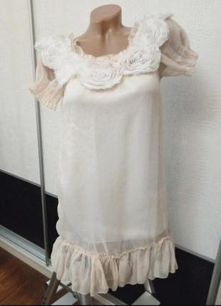 Платье нарядное короткое с цветами new look