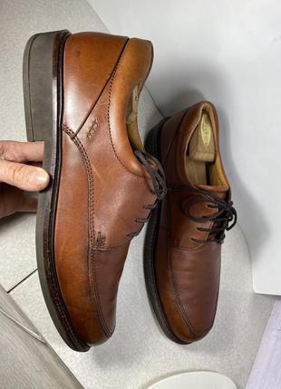 Ecco holton мужские кожаные туфли 44-45 р 29 см оригинал