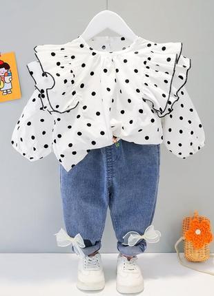 Костюм детский блуза джинсы