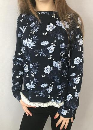 Блуза с кружевом от hm6 фото