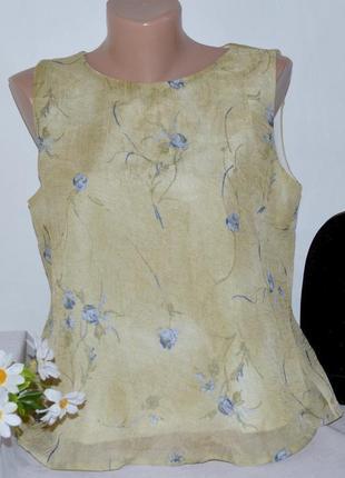 Брендовая блуза топ gianfranco corneli milan принт цветы этикетка