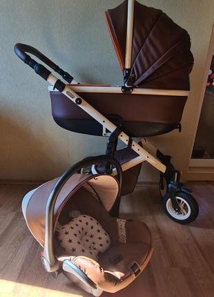 💣3 в 1💣очень красивая и оригинальная коляска 3 в 1 vikalex grata