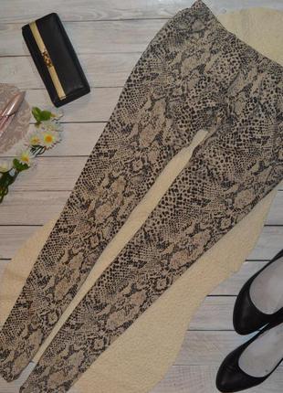 Классные джинсы-джеггинсы в леопардовый принт