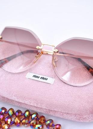 Красивые женские очки градиентные безоправные окуляри