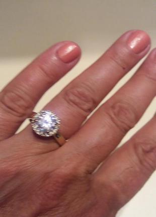 Красивое бижутерное кольцо с камнем parfois