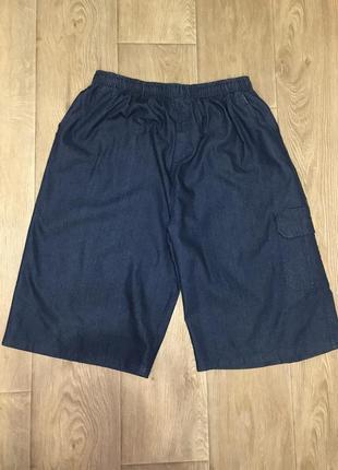 Джинсовые бриджи большого размера, джинсовые шорты