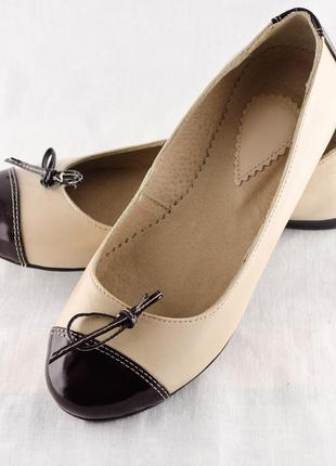 Балетки-туфли женские весна-лето (124). кожаная женская обувь