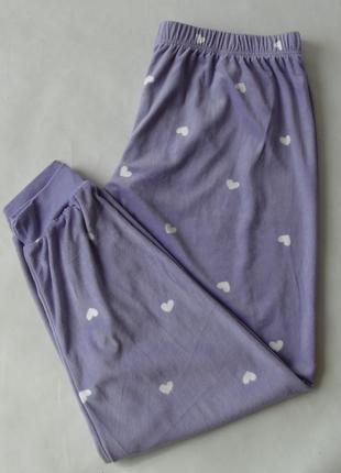 Домашние пижамные штаны primark хл велюр