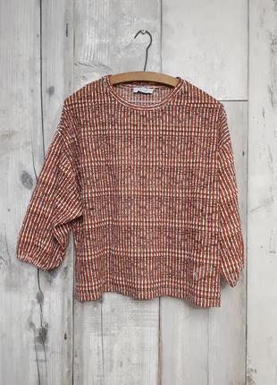 🔥блузка блуза свободная с широкими рукавами р 12  м l