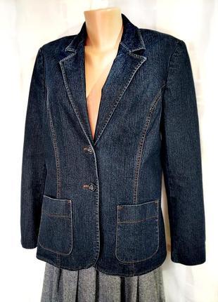 Классический джинсовый жакет, 78% хлопка