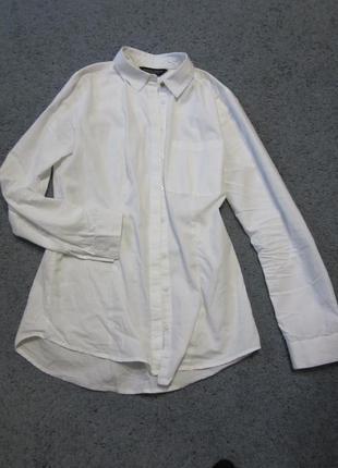 Фирменная базовая белая рубашка