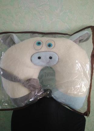 Подушка игрушка бык снежок