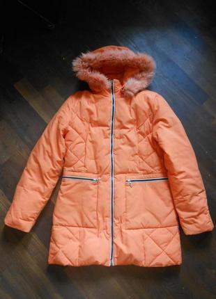 Яркая куртка пуховик зимняя